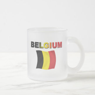 Tasse Givré Drapeau de la Belgique
