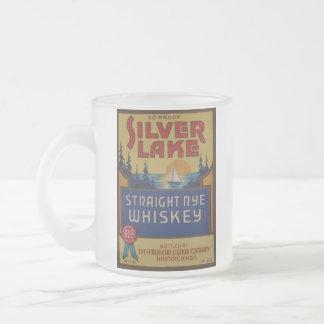Tasse Givré Étiquette vintage d'art d'alcool de whiskey