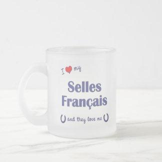 Tasse Givré J'aime mon Selles Francais (les chevaux multiples)
