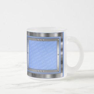Tasse Givré La photo givrée en métal de bleu glacier encadre
