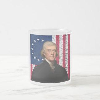 Tasse Givré Le Président Jefferson et le drapeau américain