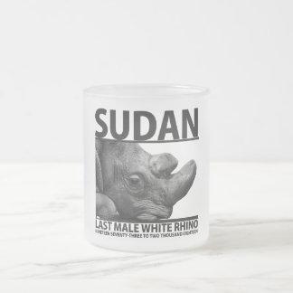 Tasse Givré Le Soudan : Dernier rhinocéros blanc masculin