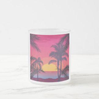 Tasse Givré Paysage romantique avec des palmiers