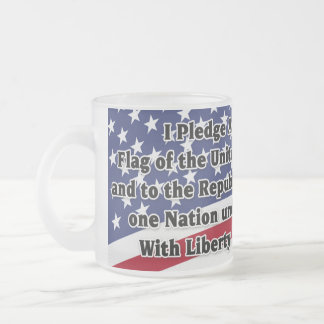 Tasse Givré Serment de fidélité avec le drapeau des USA