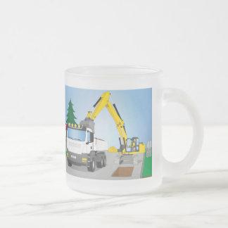 Tasse Givré Straßenbaustelle avec le camion blanc et