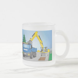 Tasse Givré Straßenbaustelle avec le camion bleu et