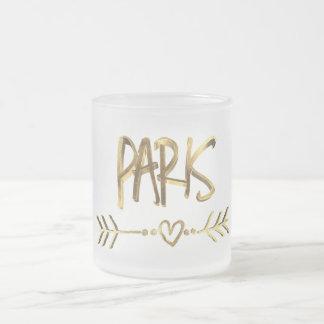 Tasse Givré Typographie de regard d'or de la France d'amour de