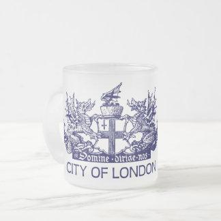 Tasse Givré Ville de Londres, cru, manteau des bras,