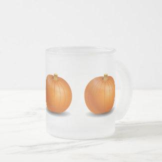 Tasse givrée de citrouille de Halloween/automne
