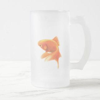 Tasse givrée par poisson rouge