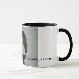 Tasse :  Héron de grand bleu