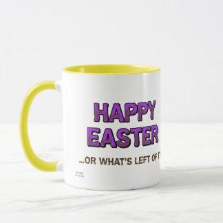 Tasse heureuse de Pâques de teckel