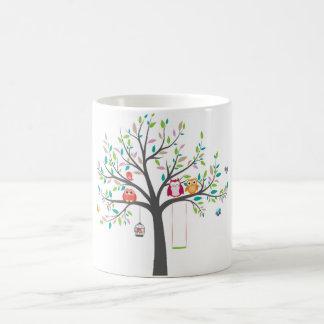 Tasse -- Hiboux mignons dans l'arbre