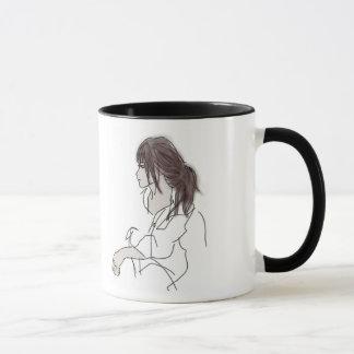 Tasse imprimée par illustration de fille
