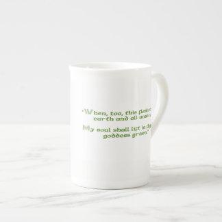 Tasse irlandaise avec la citation verte de