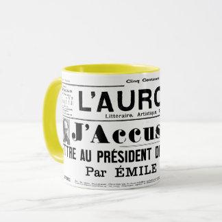 tasse J'accuse Emile Zola