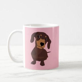Tasse mignonne de rose de chiot de chien de