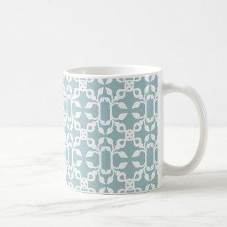 Tasse moderne d'art déco bleu-clair et blanc