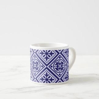 Tasse moderne de café express d'art déco bleu et