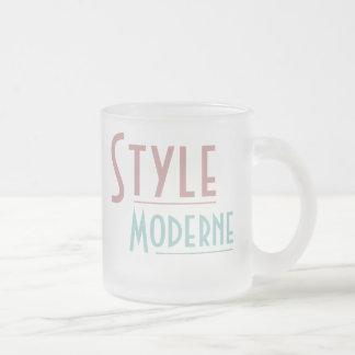 Tasse MODERNE de STYLE (verre givré)