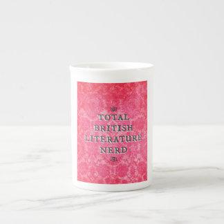 Tasse nerd de porcelaine tendre de littérature