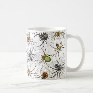 Tasse nette d'araignées