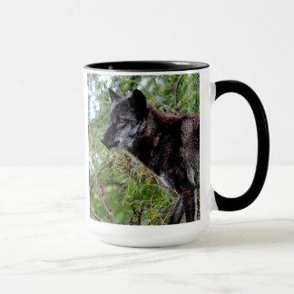 Tasse noire de loup