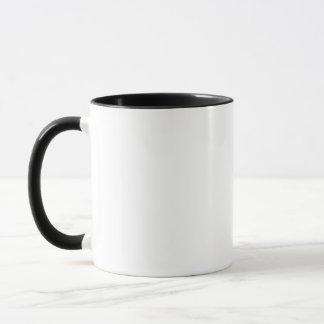Tasse nommée de Kirsty en noir et blanc