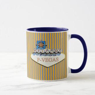 Tasse orange bleue de P-Vegas Platteville le