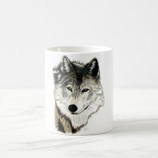 Tasse originale d'art de loup