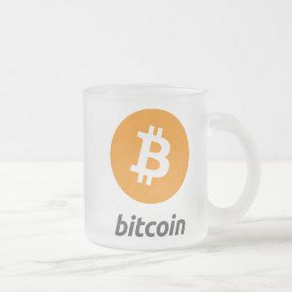 Tasse originale en verre givré de symbole de logo