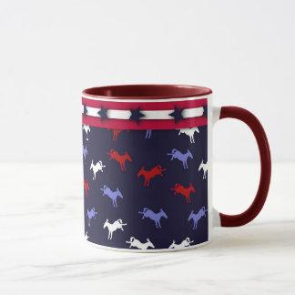 Tasse patriotique d'ânes