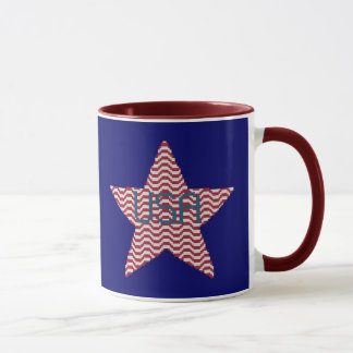 Tasse patriotique d'étoile