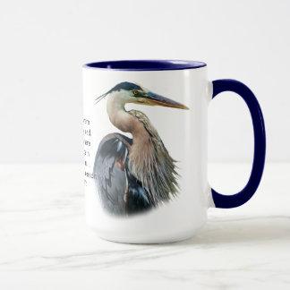 Tasse personnalisable de héron de grand bleu