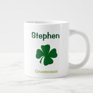 Tasse personnalisée par Groomsman irlandaise de