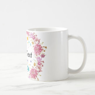 Tasse personnalisée par guirlande florale des