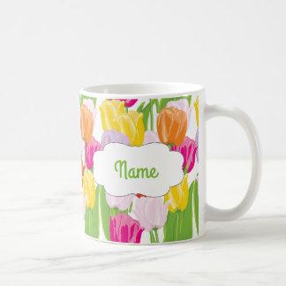 Tasse personnalisée par tulipe de ressort