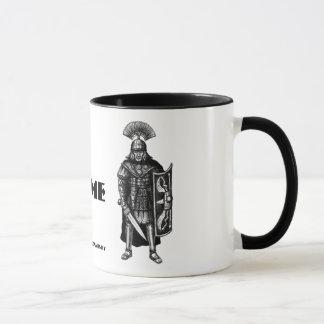 Tasse romaine d'art de dessin de stylo d'encre de
