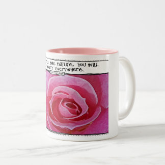 Tasse rose de citation de nature de Van Gogh