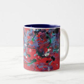Tasse rouge de peinture de floc