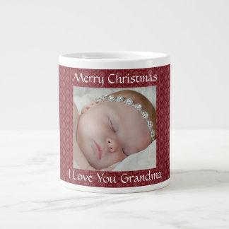 Tasse rouge de photo de Noël