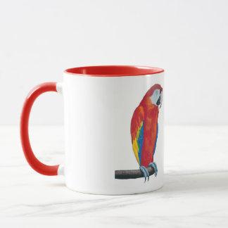 Tasse rouge de tasse de café de sonnerie de faune