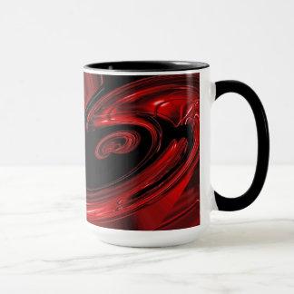 """Tasse rouge et noire d'art de bruit de """"nébuleuse"""""""