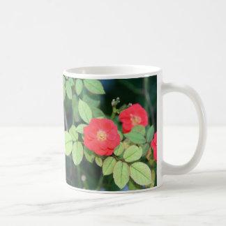 Tasse rouge simple de fleur