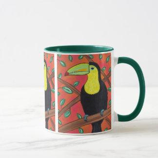 Tasse tropicale d'oiseau de toucan