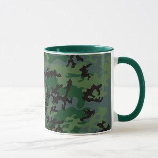 Tasse verdoyante en verre de Camo de tropiques