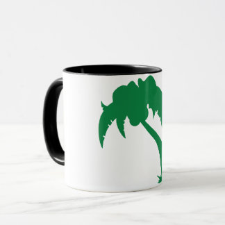 Tasse verte de palmier