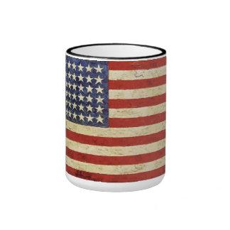 Tasse vintage de drapeau américain