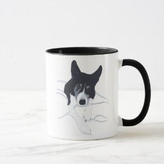 Tasses d'amoureux des chiens de border collie