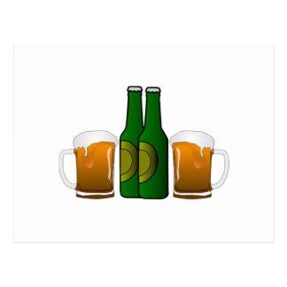 Tasses de bière carte postale